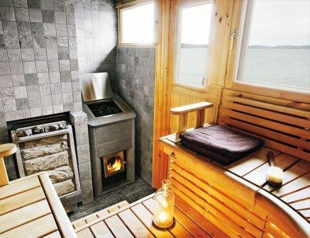 Баня с печью-каменкой